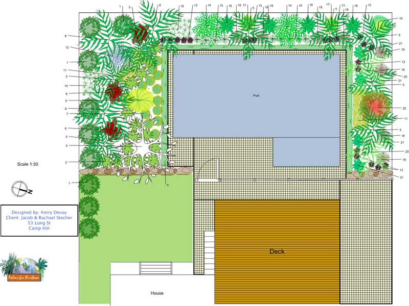 Tropical garden design layout pdf for Qld garden design ideas